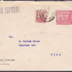 Francobolli: HP9-7- GUERRA CIVIL CARTA VIVERO (LUGO) 1937. LOCAL Y CENSURA. Lote 162124718
