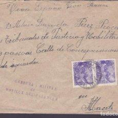 Sellos: CM1-23- GUERRA CIVIL CARTA MOTILLA DEL PALANCAR (CUENCA) 1939. CENSURA. Lote 162124858
