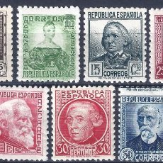 Sellos: EDIFIL 681-688 PERSONAJES 1933-1935 (SERIE COMPLETA) (VARIEDAD..686 SIN PIE DE IMPRENTA). MNH **. Lote 163883430