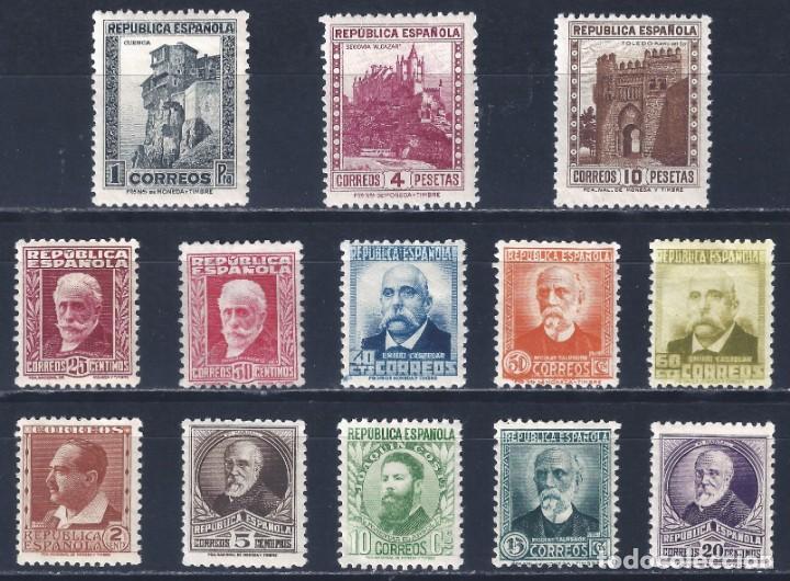 EDIFIL 662-675 PERSONALES Y MONUMENTOS 1932 (SERIE COMPLETA). VALOR CATÁLOGO: 165 €. LUJO. MLH. (Sellos - España - II República de 1.931 a 1.939 - Nuevos)