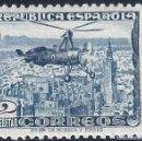 Sellos: EDIFIL 689 AUTOGIRO LA CIERVA 1935. FONDO CIELO BLANCO. VALOR CAT. 65 €. LUJO. MNH **. Lote 163969422