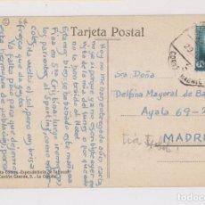 Sellos: POSTAL DE CORUÑA, GALICIA, A MADRID, 1934. AMBULANTE. Lote 163994698