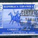 Sellos: EDIFIL 723. 2 PTS PRENSA AÉREO, MATASELLADO.. Lote 164733253