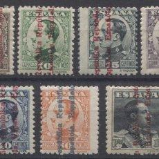 Sellos: EDIFIL 593/603 HABILITADOS REPÚBLICA ESPAÑOLA. Lote 140098494
