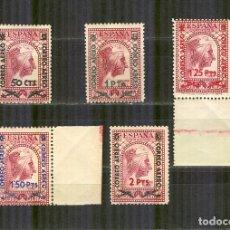 Sellos: 782/86 VIRGEN MONTSERRAT SOBRECARGADA 1938 NUEVO SIN CHARN.CENTRAJE NORMAL. Lote 165174294