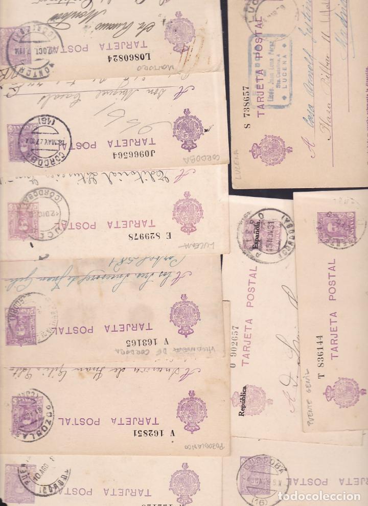 ST- LOTE 19 ENTEROS POSTALES CÓRDOBA (Sellos - España - II República de 1.931 a 1.939 - Cartas)