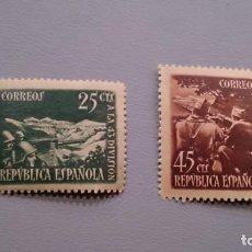 Sellos: ESPAÑA - 1938 - II REPUBLICA - EDIFIL 787/788 - SERIE COMPLETA - MNH** - NUEVOS - VALOR CATALOGO 78€. Lote 166652114