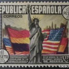 Stamps - 1938-ESPAÑA EDIFIL 763 CL ANIVERSARIO CONSTITUCIÓN EEUU MH* NUEVO CON GOMA ORIGINAL - 166792086