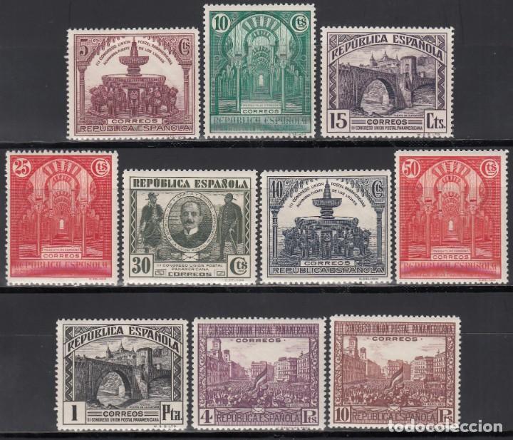 ESPAÑA, 1931 EDIFIL Nº 604 / 613 /**/, SIN FIJASELLOS. (Sellos - España - II República de 1.931 a 1.939 - Nuevos)