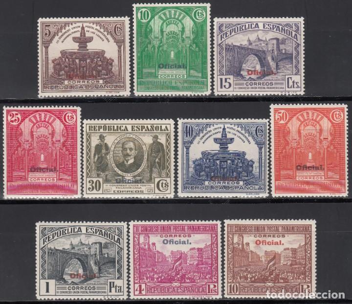 ESPAÑA, 1931 EDIFIL Nº 620 / 629 /**/, SIN FIJASELLOS. (Sellos - España - II República de 1.931 a 1.939 - Nuevos)