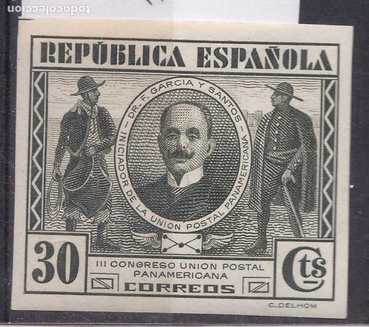 RR21- REPÚBLICA CUPP EDIFIL 608S. SIN DENTAR NUEVO * CON FIJASELLOS (Sellos - España - II República de 1.931 a 1.939 - Nuevos)