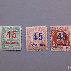 Sellos: ESPAÑA - 1938 - II REPUBLICA - EDIFIL 742/744 - SERIE COMPLETA - MNH** - NUEVOS - VALOR CATALOGO 40€. Lote 167183032
