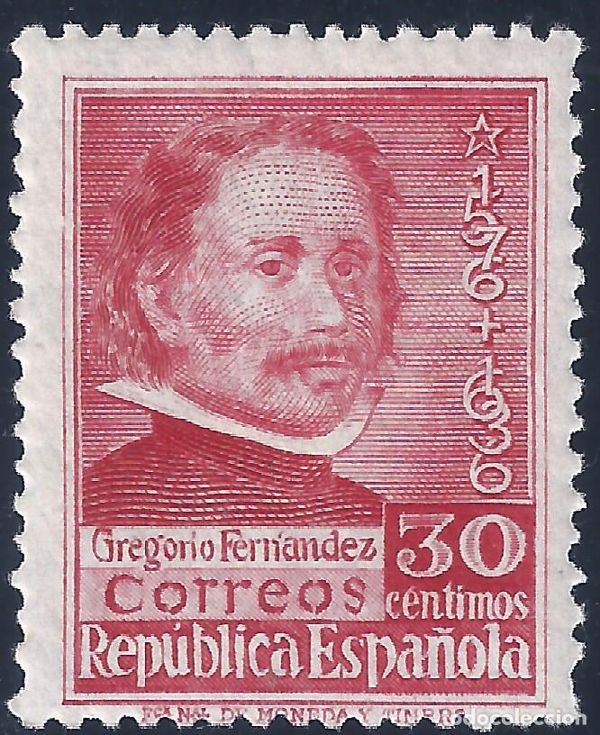 EDIFIL 726 CENTENARIO DE LA MUERTE DE GREGORIO FERNÁNDEZ 1937. MNH ** (Sellos - España - II República de 1.931 a 1.939 - Nuevos)