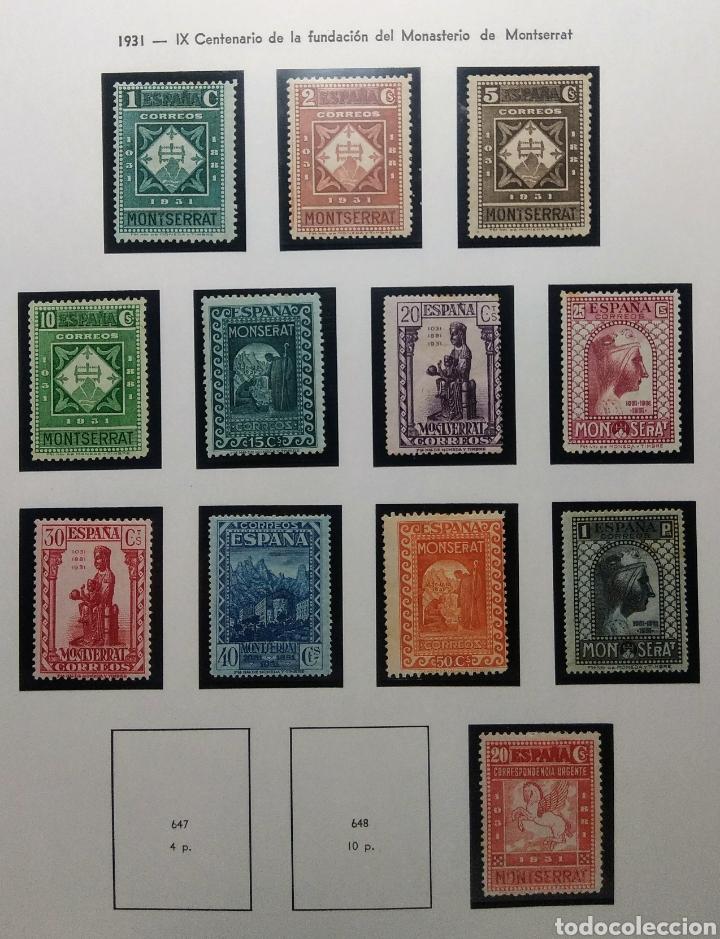 1931. IX CENT. MONTSERRAT. INCOMPLETA. 636/649*. (Sellos - España - II República de 1.931 a 1.939 - Nuevos)