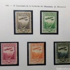 Sellos: 1931. IX CENT. MONASTERIO MONTSERRAT. 650/654*. Lote 168119700