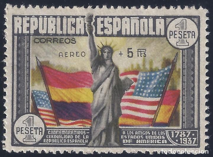 EDIFIL 765 ANIVERSARIO DE LA CONSTITUCIÓN DE LOS EE.UU. VALOR CATÁLOGO: 585 €. LUJO. MLH. (Sellos - España - II República de 1.931 a 1.939 - Nuevos)