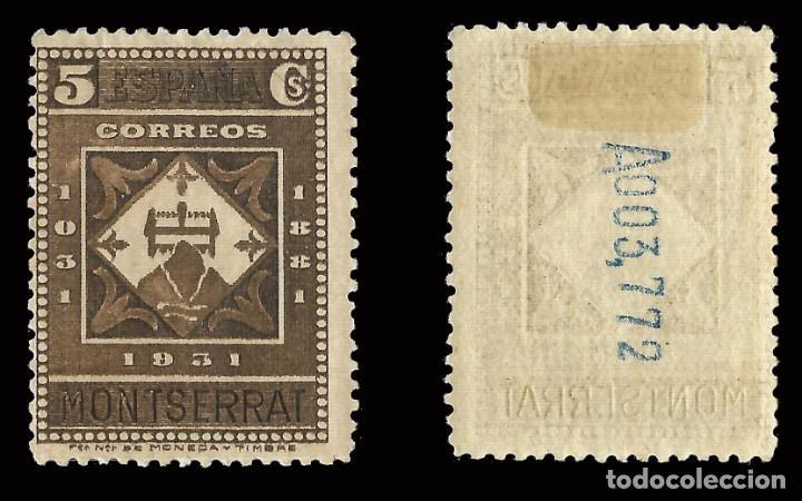 Sellos: Sellos. España.II República 1931. IX Cent. Montserrat.5c castaño.Nuevo*.Edif. 638 - Foto 2 - 168794900