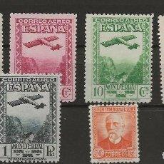 Sellos: R61/ 1931/1932, PLANO Y PERSONA FAMOSA, EDF, 650/54 EN 671, CHARNELA. Lote 169031632