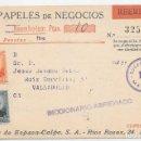 Sellos: SALMERON EDIFIL 657 - 661. PAPELES DE NEGOCIOS CONTRA REEMBOLSO. DE MADRID A VALLADOLID 1934. Lote 169087828