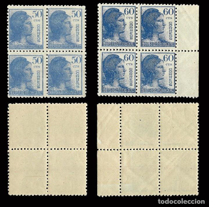 Sellos: II República.Edifil 751-754.1938. Alegoría Serie Blq 4.MHN - Foto 3 - 169208832