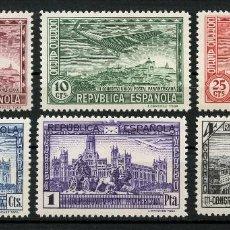 Sellos: REPÚBLICA ESPAÑOLA, SELLO, UNIÓN POSTAL, CORREO AÉREO, 1931, EDIFIL: 614/619. Lote 169763192