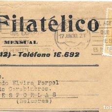 Francobolli: EDIFIL 499. FRAGMENTO DE MADRID FILATELICO CIRCULADO DE SEVILLA A ESPORLAS - BALEARES.. Lote 169824212