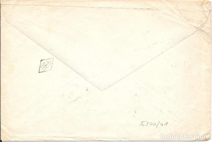 Sellos: EDIFIL 670 - 674. SOBRE CIRCULADO A BAHIA BLANCA - BRASIL. - Foto 2 - 169830320