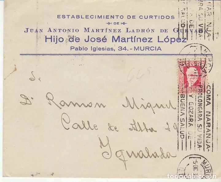 MURCIA A YGUALADA. 1934 (Sellos - España - II República de 1.931 a 1.939 - Cartas)