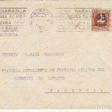 Sellos: MILITAR: MURCIA A VALENCIA. 1935.. Lote 170544124