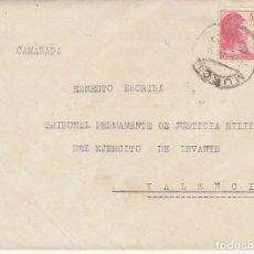 Sellos: MILITAR : MURCIA A VALENCIA . 1938.. Lote 170545008