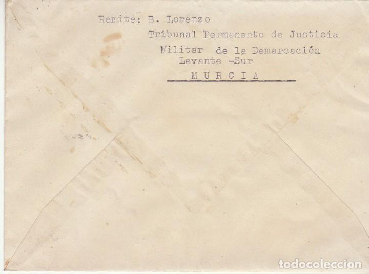 Sellos: MILITAR : MURCIA a VALENCIA . 1938. - Foto 2 - 170545008