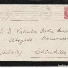 Sellos: LUTO : CARTAGENA A CHINCHILLA. 1936. . Lote 170545532