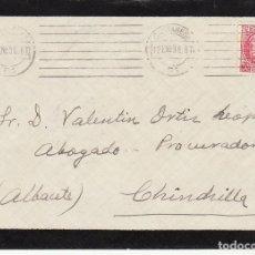 Sellos: LUTO : CARTAGENA A CHINCHILLA. 1936. . Lote 170545532