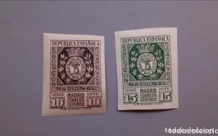 ESPAÑA-1936- II REPUBLICA - EDIFIL 727/728 - SERIE COMPLETA - MH* - NUEVOS - LUJO - GRANDES MARGENES (Sellos - España - II República de 1.931 a 1.939 - Nuevos)