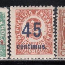 Sellos: ESPAÑA, 1938 EDIFIL Nº 742 / 744 /**/, SIN FIJASELLOS.. Lote 171070538