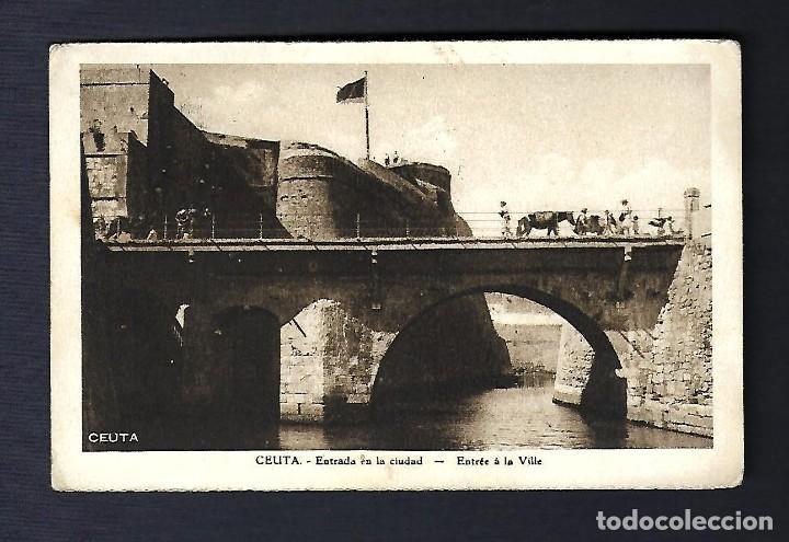 18 ABRIL 1935. TARJETA POSTAL CEUTA A PRAGA (Sellos - España - II República de 1.931 a 1.939 - Cartas)