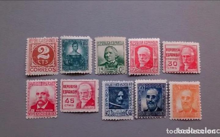 ESPAÑA - 1936-1938 - II REPUBLICA - EDIFIL 731/740 - SERIE COMPLETA - MNH** - NUEVOS - VALOR CAT.42€ (Sellos - España - II República de 1.931 a 1.939 - Nuevos)