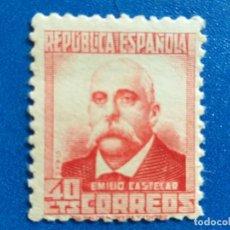 Sellos: NUEVO **. AÑO 1936-1938. EDIFIL 736. CIFRAS Y PERSONAJES. EMILIO CASTELAR.. Lote 171215728