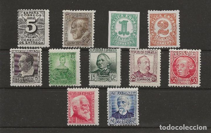 R7/ ESPAÑA, LOTE PERSONAJES Y OTROS, MNH**, CATALOGO 82,00€ (Sellos - España - II República de 1.931 a 1.939 - Nuevos)
