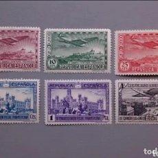 Sellos: ESPAÑA - 1931 - II REPUBLICA - EDIFIL 614/619 - SERIE COMPLETA - MH* - NUEVOS.. Lote 171244490
