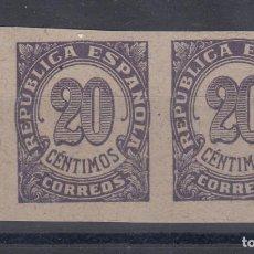 Sellos: 1938 EDIFIL 748** SIN DENTAR. PAREJA. NUEVOS SIN CHARNELA. CIFRAS. Lote 171264547