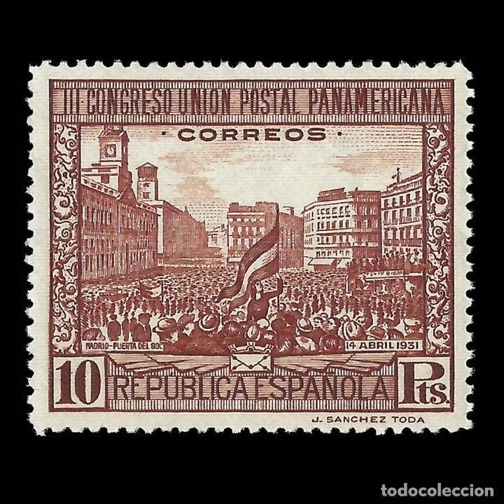 SELLOS. ESPAÑA. II REPÚBLICA 1931.III CONG. U.P.P.10P CAST.ROJO.NUEVO** EDIFIL 613 (Sellos - España - II República de 1.931 a 1.939 - Nuevos)