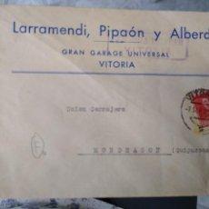 Sellos: SOBRE LARRAMENDI, PIPAÓN Y ALBERDI. GRAN GARAGE UNIVESAL. VITORIA. . Lote 171789984