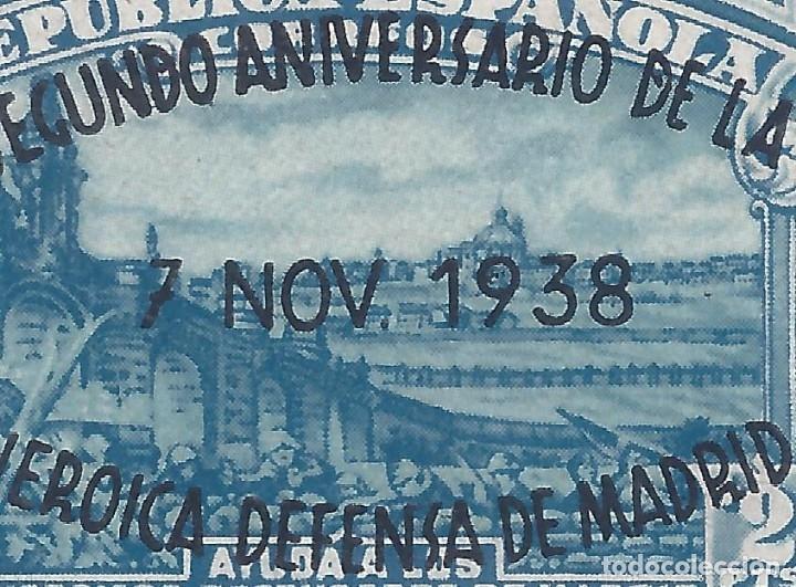 Sellos: EDIFIL 789 II ANIVERSARIO DE LA DEFENSA DE MADRID 1938 (VARIEDADES EN LA SOBRECARGA). LUJO. MNH ** - Foto 3 - 172277317