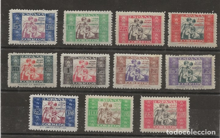 R7/ ESPAÑA 1934-37, EDIFIL 1/11 * MH, HUERFANOS DE CORREOS (Sellos - España - II República de 1.931 a 1.939 - Nuevos)