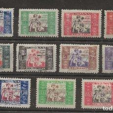 Sellos: R7/ ESPAÑA 1934-37, EDIFIL 1/11 * MH, HUERFANOS DE CORREOS. Lote 172581765