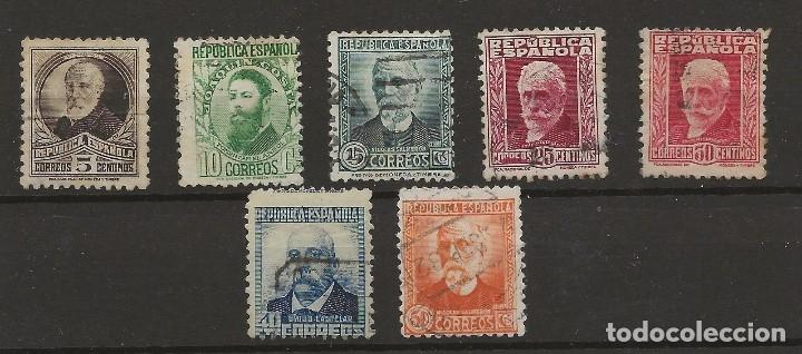 R7/ ESPAÑA USADOS 1931-32, PERSONAJES, CATALOGO 34,00 € (Sellos - España - II República de 1.931 a 1.939 - Usados)