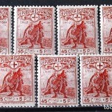 Selos: 767, SIETE SERIES NUEVAS, SIN CH.. CRUZ ROJA.. Lote 173493924