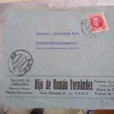 Sellos: SOBRE TALLERES DE CERRAJERÍA HIJO DE ROMÁN FERNÁNDEZ. LUGO. FERRETERÍA EN GENERAL. . Lote 173502803