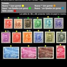 Sellos: SERIE COMPLETA - EDIFIL 695/710 - XL ANIVERSARIO ASOCIACIÓN DE LA PRENSA - 1936 - REF701. Lote 173516732